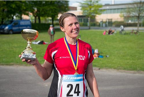 Sofia Key, vinnare 100 km. foto: Christofer Kull