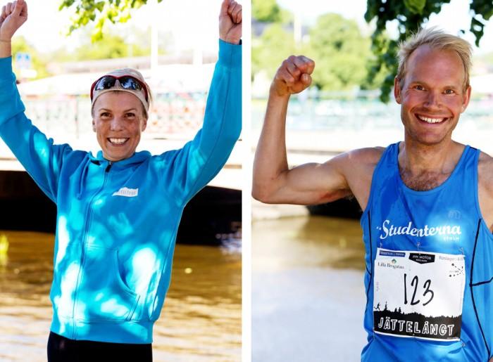 Segrare i Jättelångt, Eva Lindskog och Daniel Nilsson. Foto: Jenny Karlsson