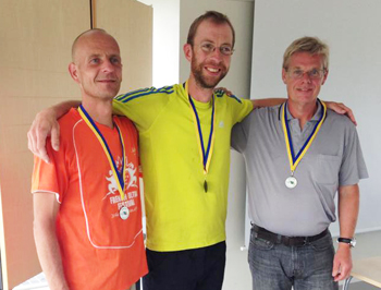 Peter Boevig (3), Christer Svensson (1) och Mikael Forsström (2).